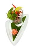 Salade exotique fraîche de coctail de fruits de mer Photos libres de droits