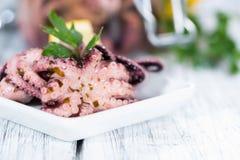 Salade faite maison de poulpe Photographie stock