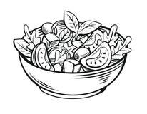 Salade fraîche avec de la laitue photo libre de droits