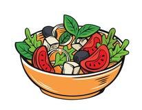 Salade fraîche avec de la laitue photographie stock libre de droits