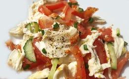 Salade fraîche avec du fromage de mozzarella Photographie stock