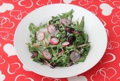 Salade fraîche avec le radis Photos libres de droits