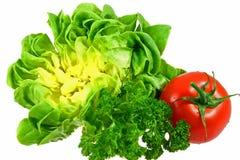 Salade fraîche avec les tomates et le persil photos libres de droits