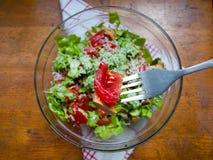 Salade fraîche délicieuse Photo libre de droits