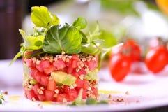 Salade fraîche de tomate Photographie stock libre de droits