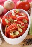 Salade fraîche de tomate Photo libre de droits