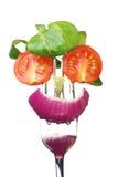 salade fraîche de visage Photographie stock libre de droits