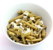 Salade fraîche des haricots verts Photographie stock libre de droits
