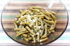 Salade fraîche des haricots verts Photos stock
