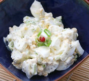 Salade fraîche des oeufs Image stock