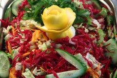 Salade fraîche mélangée Photographie stock libre de droits