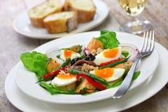 Salade française de nicoise image stock