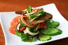 Salade frite de poissons Image libre de droits