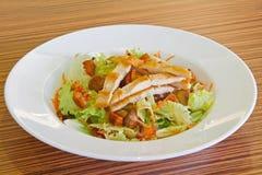 Salade froide avec de la viande de poulet Images stock