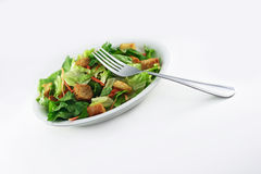 Salade générique avec la fourchette image stock