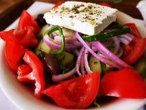 Salade grecque colorée Images libres de droits