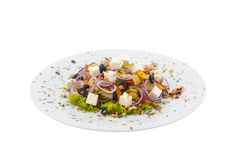Salade grecque d'isolement Photographie stock