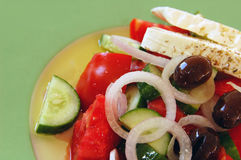 Salade grecque fraîche Images libres de droits
