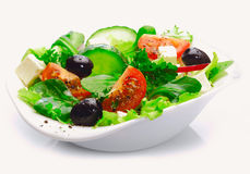 Salade grecque fraîche délicieuse image libre de droits