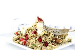 Salade grecque III de couscous de feta photographie stock