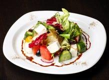Salade grecque ou italienne Photo stock