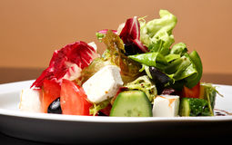 Salade grecque ou italienne Image stock