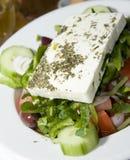 Salade grecque réelle image libre de droits
