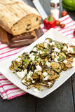 Salade grillée d'aubergine Photographie stock libre de droits