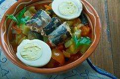 Salade grillée par Tunisien Images libres de droits