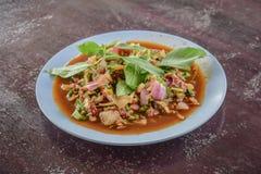 Salade hachée épicée de boeuf photographie stock libre de droits