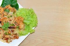 Salade hachée épicée de porc photos libres de droits