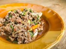 Salade hachée épicée de porc Photographie stock