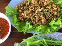 Salade hachée chaude et épicée de dinde Image stock