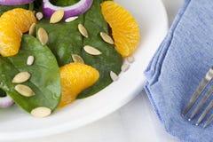 Salade II de mandarine d'épinards photographie stock libre de droits