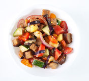 Salade italienne de panzanella Photos libres de droits
