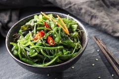 Salade japonaise d'algue Photographie stock libre de droits