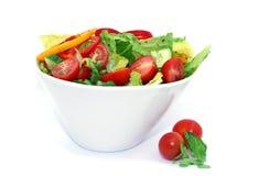 Salade jetée en l'air Photos stock