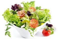 Salade jetée en l'air Photographie stock