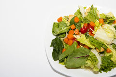 Salade jetée en l'air Photo stock