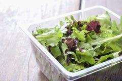 Salade, klaar om de supermarkt te eten. Stock Afbeeldingen