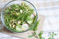 Salade : légumes et herbes Photo libre de droits