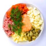 Salade la première vue Photos stock
