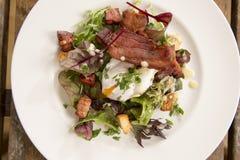 Salade Lyonnaise Royalty-vrije Stock Afbeeldingen