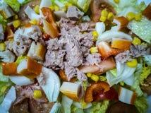 Salade méditerranéenne avec de divers ingrédients images libres de droits