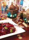 Salade marocaine de betterave photo stock