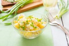 Salade met aardappels en ui Stock Foto