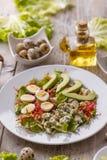 Salade met Avocado Stock Foto