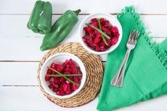 Salade met biet Stock Foto's