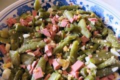 Salade met bonen Stock Fotografie