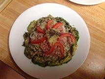 Salade met chia Stock Afbeeldingen